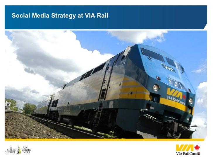 Social Media Strategy at VIA Rail