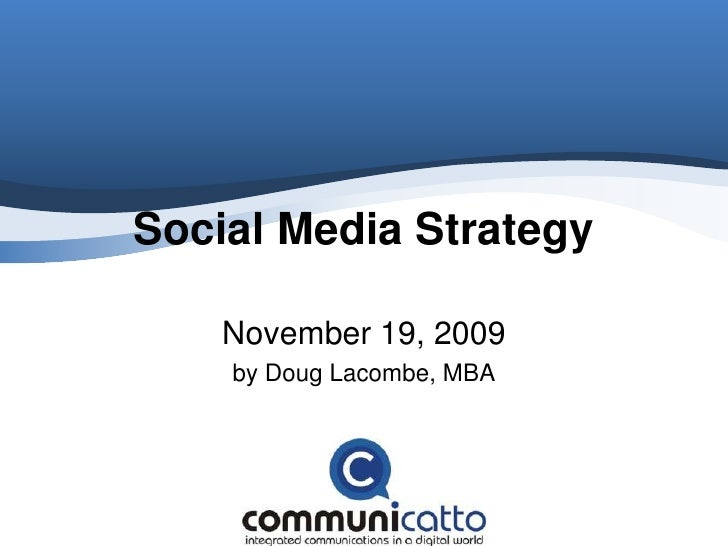 Social Media Strategy CPRS Independent Practitioners