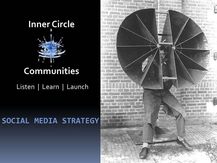 Inner Circle<br />Listen  |  Learn  |  Launch<br />Communities<br />Social Media strategy<br />