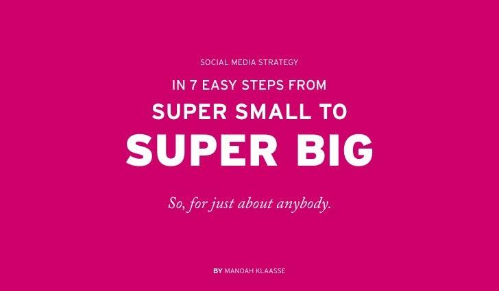 Social media strategy in 7 steps