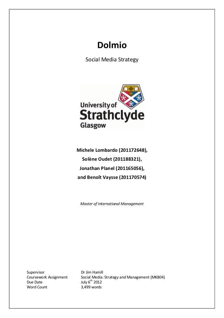 Social media strategy & management   dolmio - lombardo - oudet - planel - vaysse