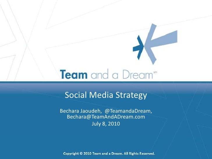 Social Media Strategy - ROI and Campaigns