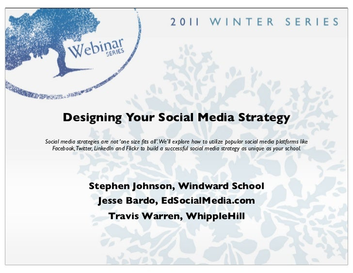 Designing Your Social Media StrategySocial media strategies are not 'one size fits all'.We'll explore how to utilize popula...