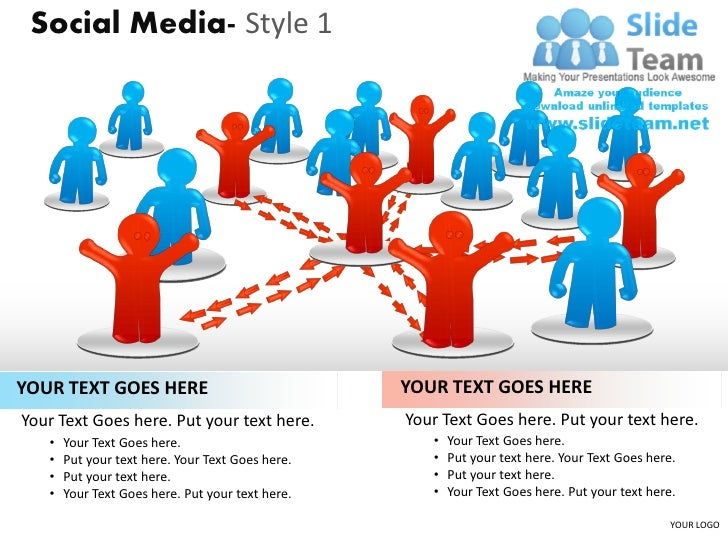 Social Media- Style 1YOUR TEXT GOES HERE                               YOUR TEXT GOES HEREYour Text Goes here. Put your te...