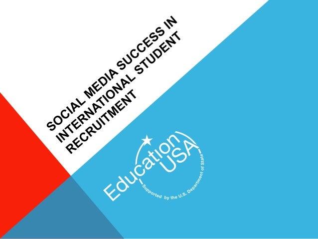 Social Media Success in International Student Recruitment