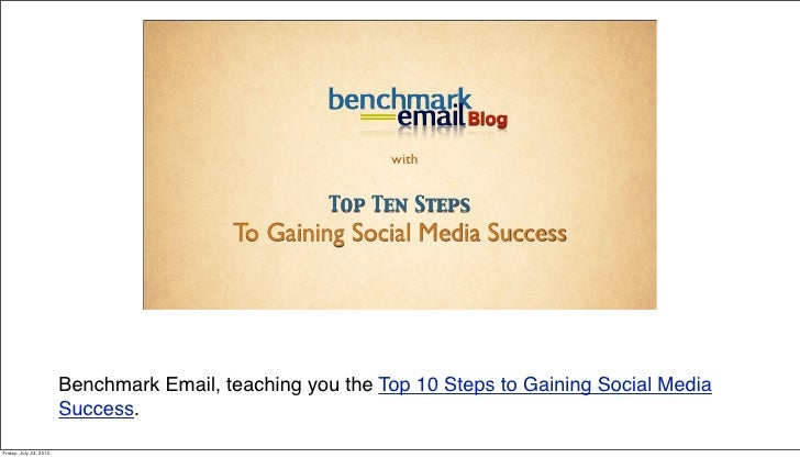 Top 10 Steps to Gaining Social Media Success