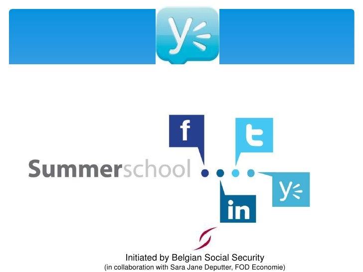 Social media summerschool2.0 yammer en