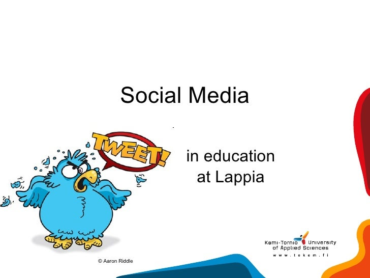 Social Media in education at Lappia ©  Aaron Riddle