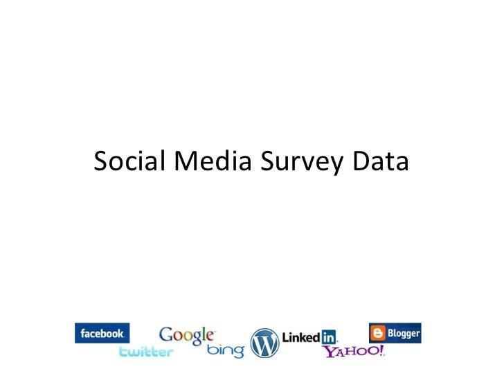 Social media survey data