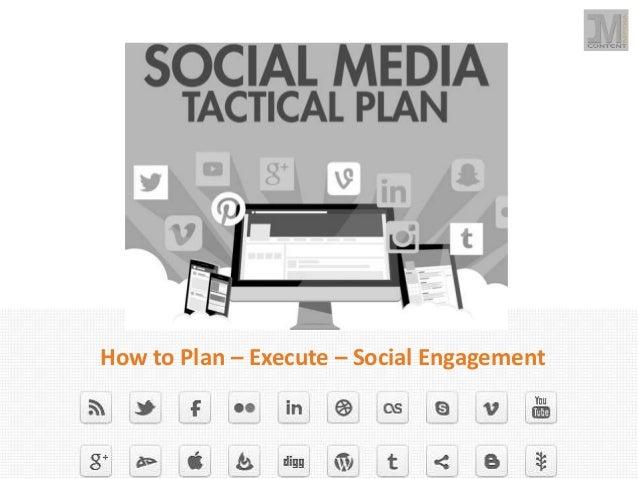 social media tactical plan