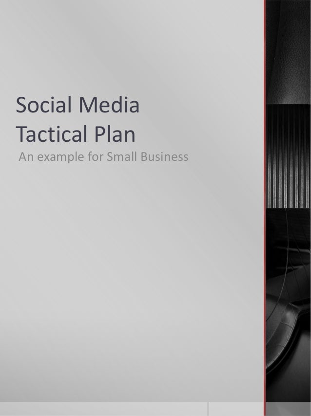 Social MediaTactical PlanAn example for Small Business