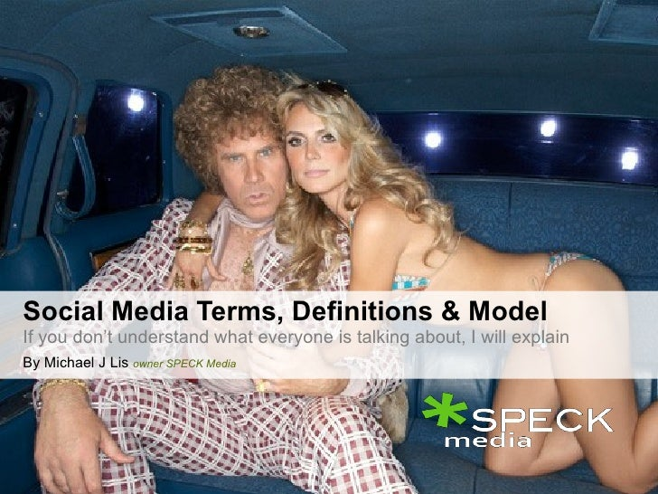 Social Media Terms Definitions & Model