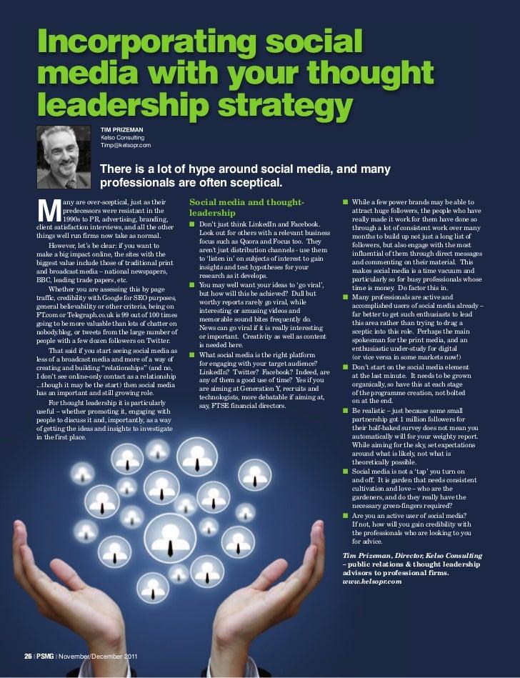 Social Media & Thought Leadership   Kelso Pr Article In Psmg Mag   Nov 2011   Shortcut.Lnk