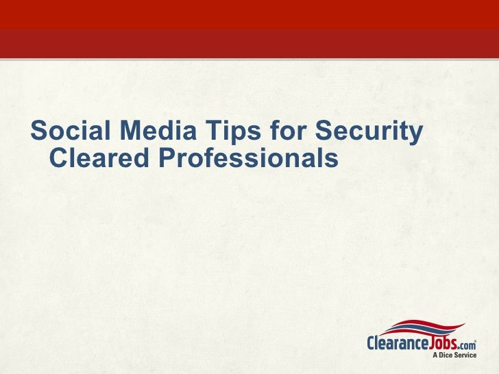 Social Media and Security Clearances