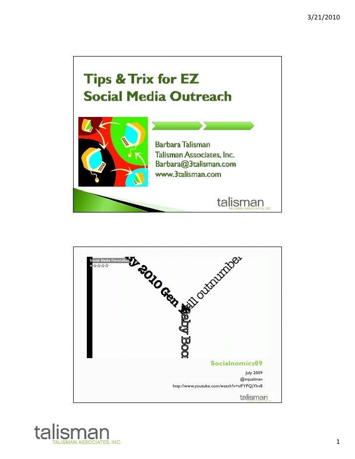 Social Media Tips & Trix