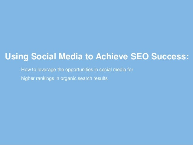 Ebriks-Social media to achieve SEO success