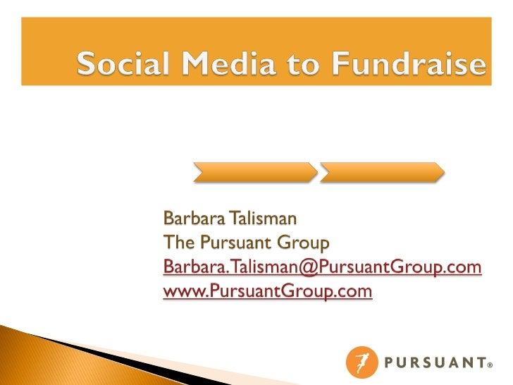 Using Social Media to Fundraise