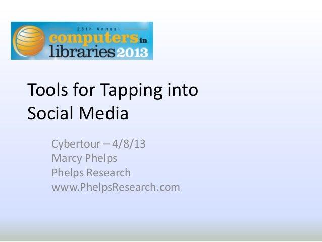 Social media tools cil2013