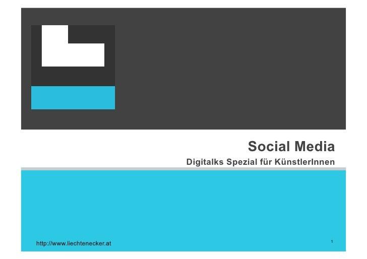 Social Media                               Digitalks Spezial für KünstlerInnen                                            ...