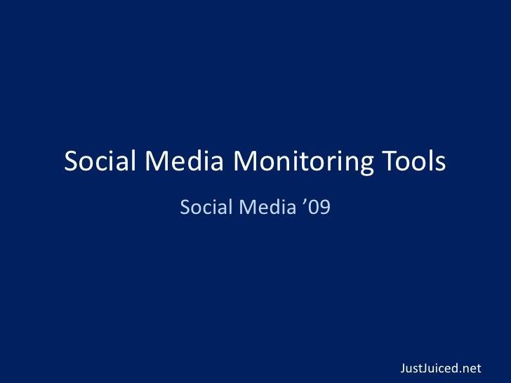 Josh Feldberg - Social Media '09 (a mashup* event)