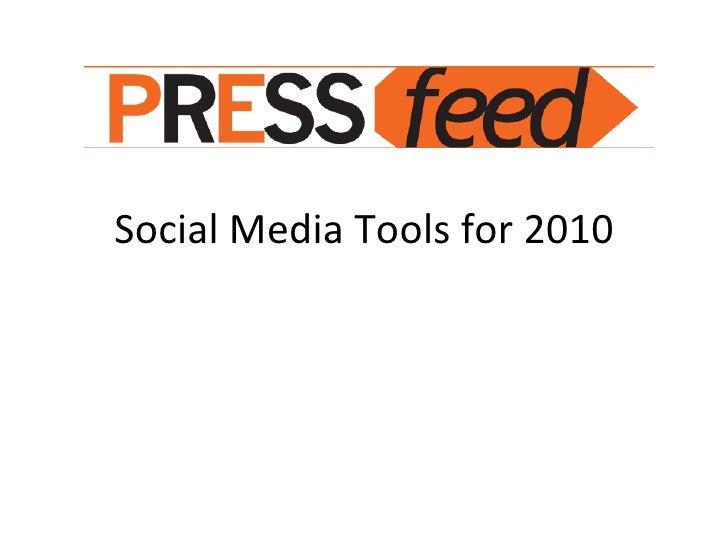 Social Media Tools For 2010