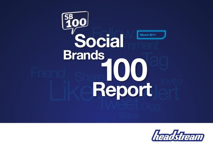 The Top 100 Social media  Brands By Industry