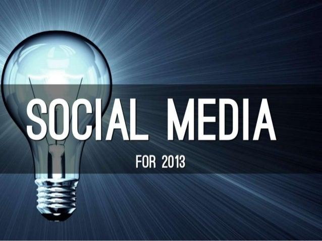 Social media top 10 for 2013