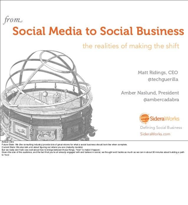 Social Media to Social Business Expion2012