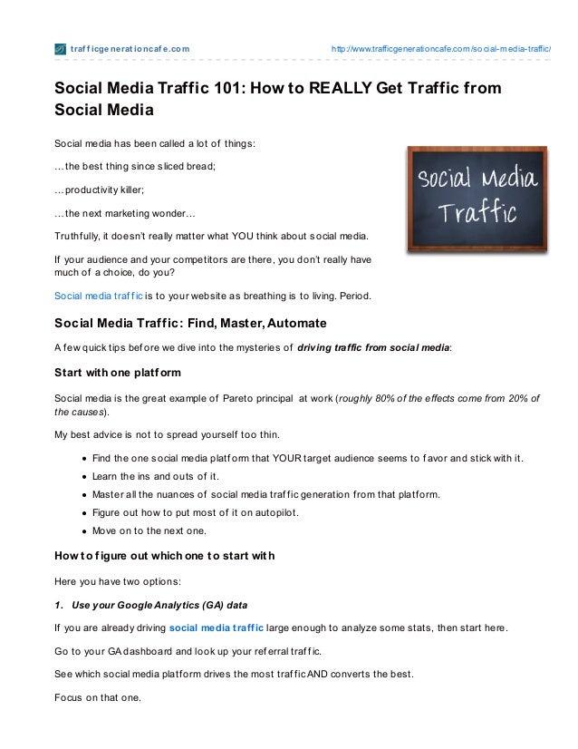 Social media traffic 101