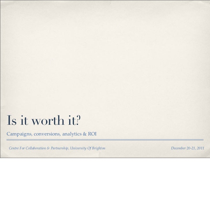 Social Media Marketing - Is it worth it? How do you know?