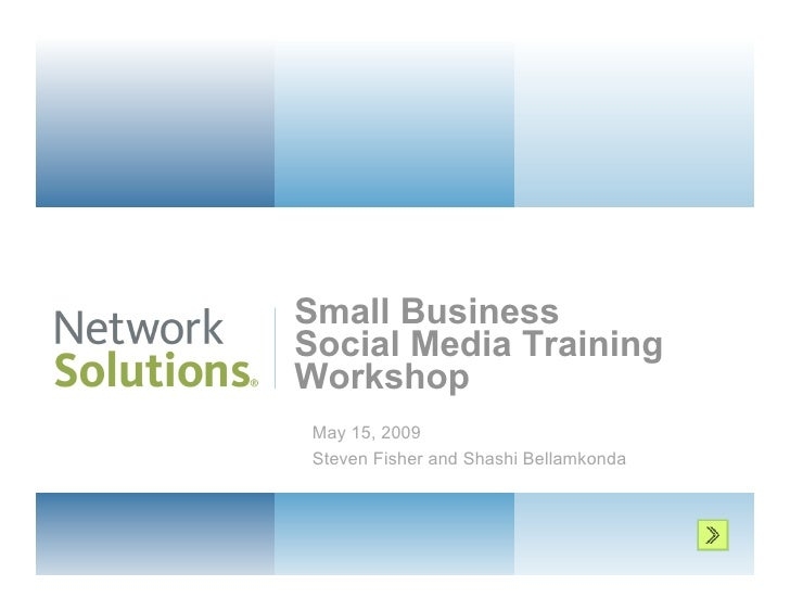 Social Media Training Workshop for Small Business
