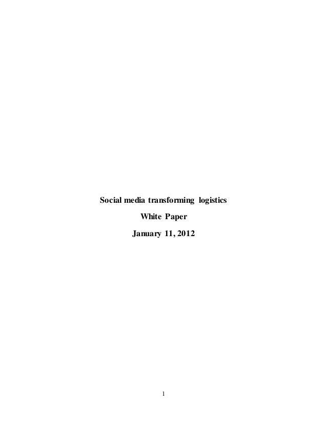 Social media transforming logistics