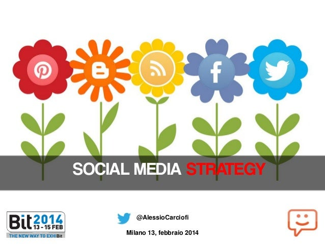 SOCIAL MEDIA STRATEGY @AlessioCarciofi  Milano 13, febbraio 2014