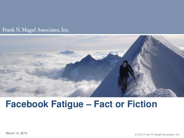 Facebook Fatigue?  Mike Vorhaus, Magid Advisors