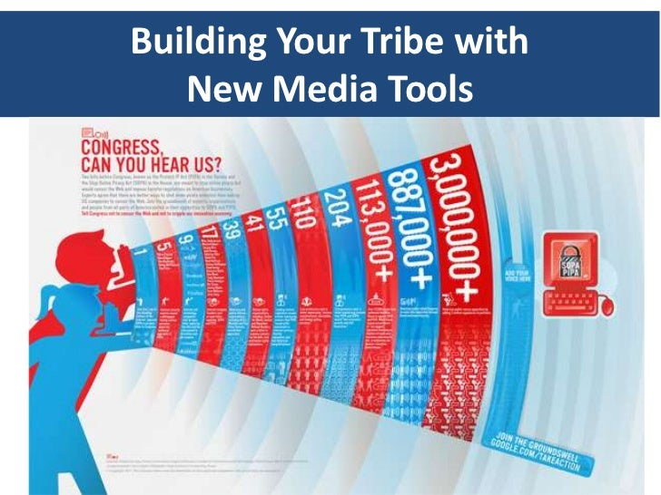 Building Your Tribe with   New Media Tools