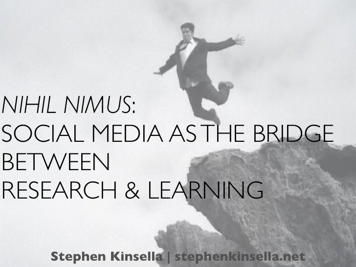 Social Media as a Bridge between Teaching and Research