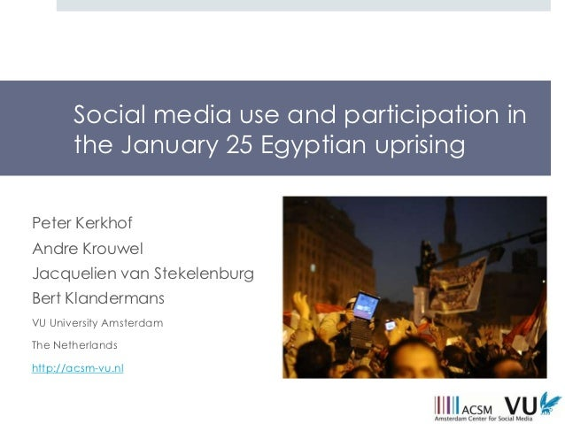 Social media use and the #25jan Egyptian uprising (ECREA 2012, Istanbul)