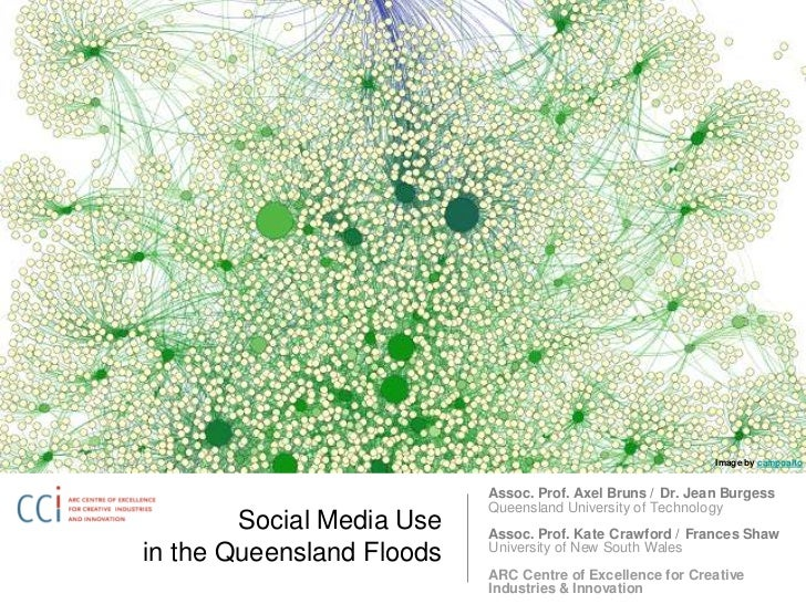 Social Media Use in the Queensland Floods<br />Image by campoalto<br />Assoc. Prof. Axel Bruns / Dr. Jean BurgessQueenslan...