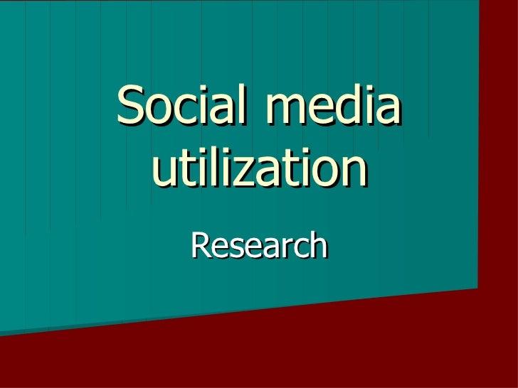 The Use of Social Media Based on the Survey at Ylivieskan Lukio