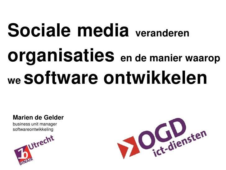 BINAIR Amsterdam - Kennismanagement verandert door sociale media