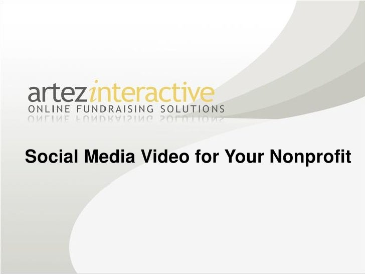 Social Media Video for Your Nonprofit