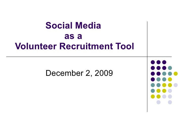 Social Media as a Volunteer Recruitment Tool