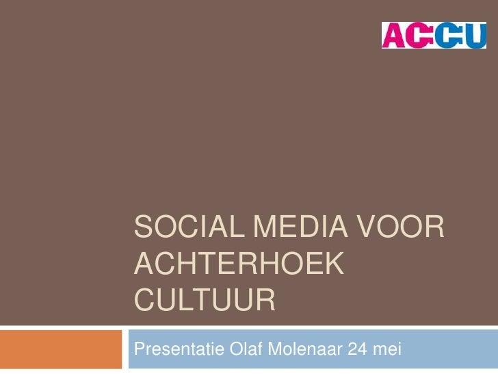 Social media voor Achterhoek cultuur