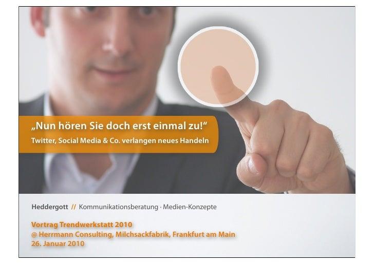 SocialMedia-Vortrag @Trendwerkstatt 2010 Herrmann Consulting