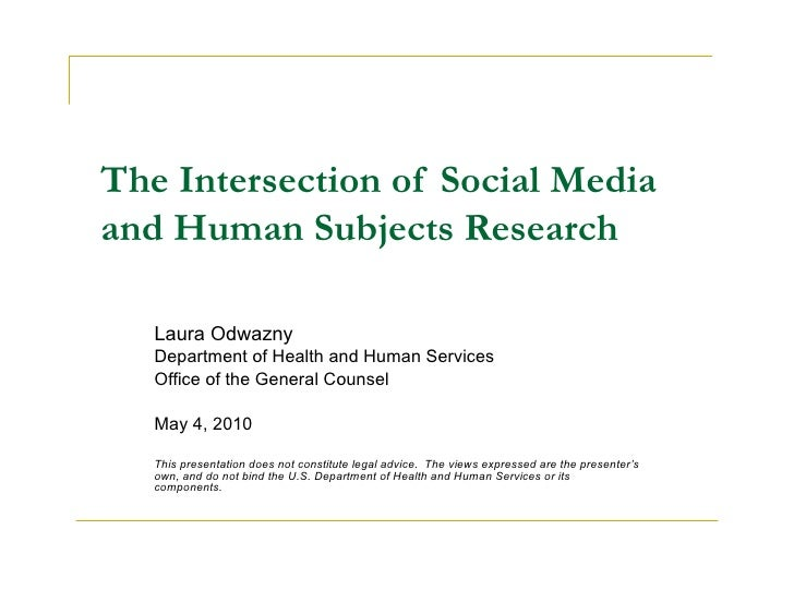The Intersection of Social Media and Human Subjects Research