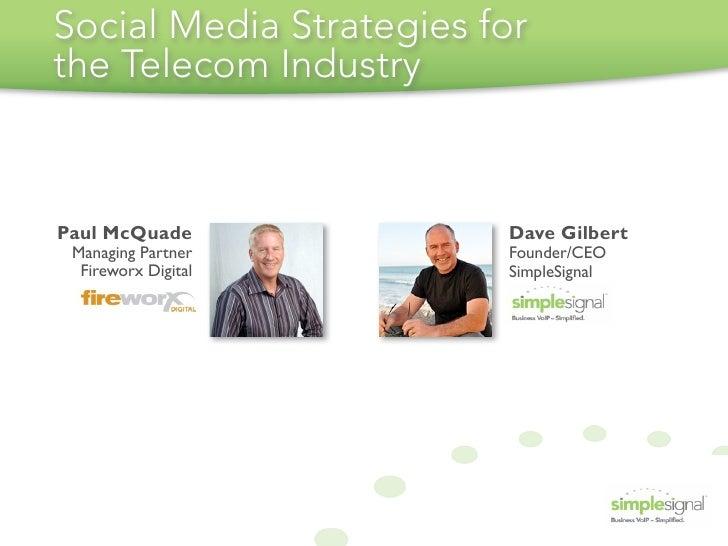 Telecom Social Media Webinar