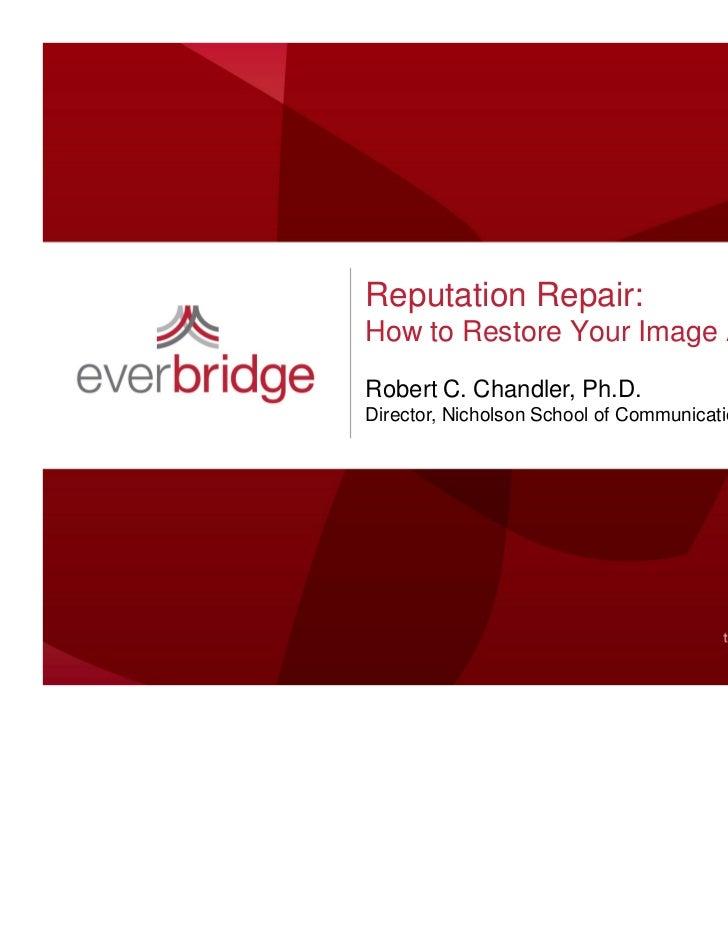 Everbridge Webinar - Reputation Repair
