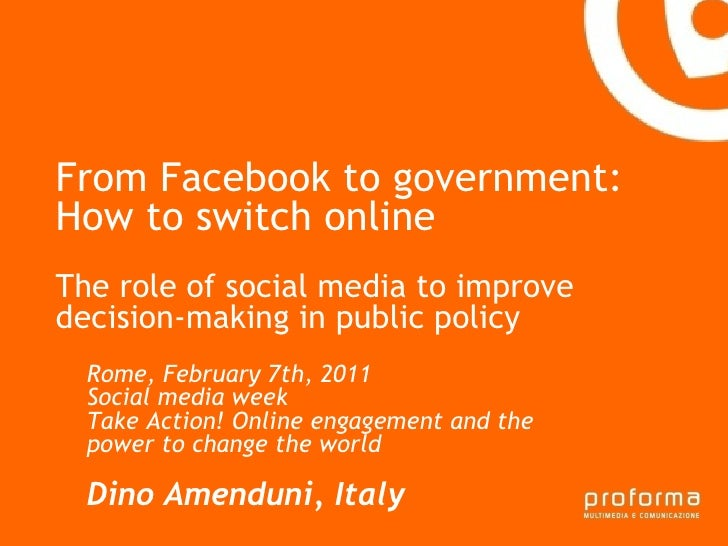 From Facebook to government - how to switch online