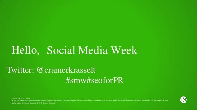 Social Media Week Chicago: SEO Strategies for PR and Social
