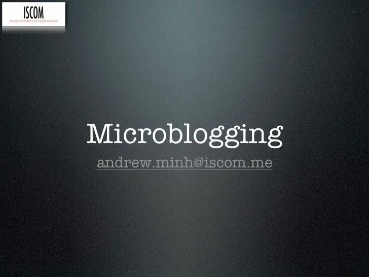social media week 3: microblogging
